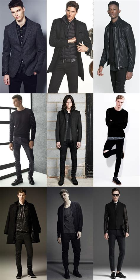 Men All Black Outfits Dark Edgy Clothing Lookbook