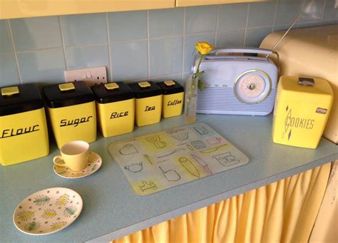 blue kitchen decor accessories yellow and powder blue 50s kitchen accessories that 4824