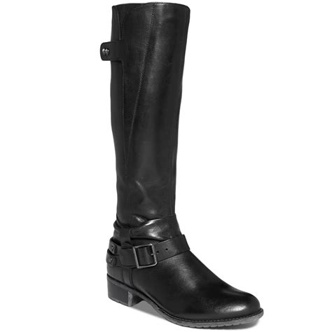 designer wide calf boots hush puppies 174 chamber 14 wide calf boots in black lyst