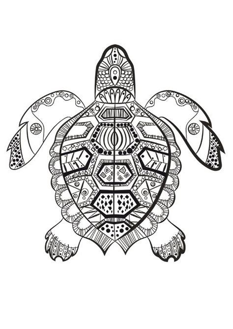 la tortue marine  colorier du dimanche mandala
