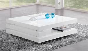 Table De Salon Alinea : table basse carr e design laqu e blanche angelie table ~ Premium-room.com Idées de Décoration