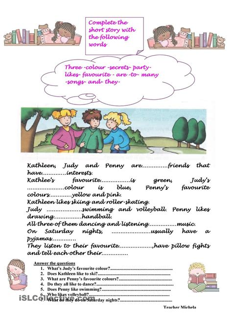 complete the short story grade 3 creative writing