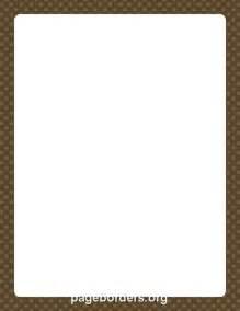 Brown Polka Dot Border Clip Art