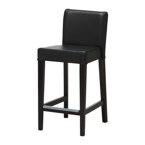 henriksdal bar stool with backrest 30x19 quot ikea
