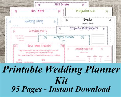best wedding planner binder printable wedding planner instant ultimate wedding