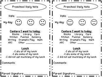 preschool daily note home classroom ideas preschool 114 | 0d19289a38cd85d227f9fc720f9f6f12 daily sheets preschool daily report preschool