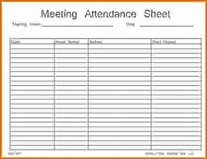 aa meeting attendance sheet template pictures to pin on With meeting attendance list template