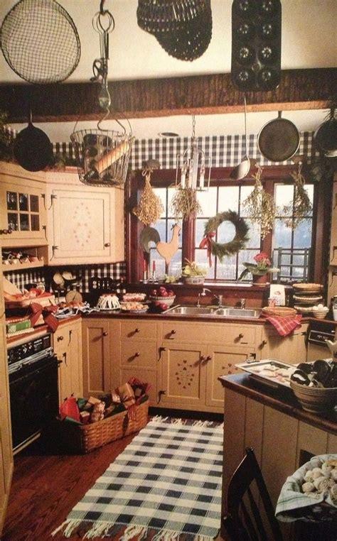 primitive kitchen ideas  pinterest country