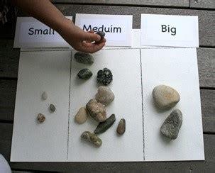 kindergarten  mooneyisms rock sorting activity