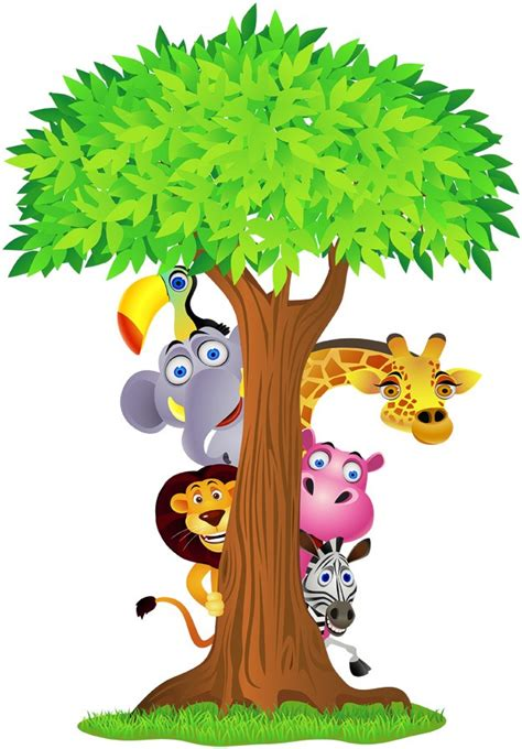 stickers savane chambre bébé choose size safari animals tree decal removable wall