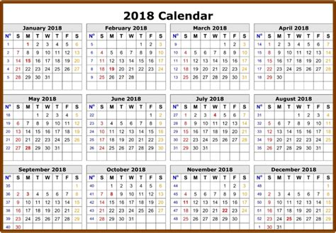 excel 2018 yearly calendar monthly yearly 2018 calendar excel printable templates