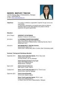 personal background resume sle resume sle