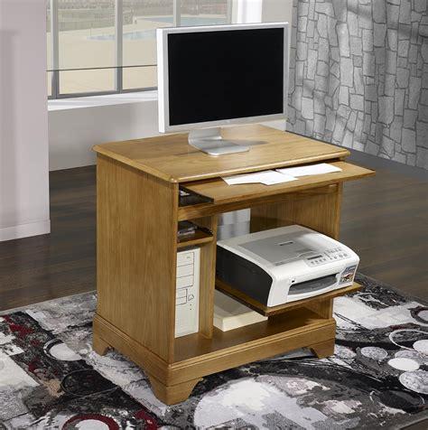 bureau informatique bois petit bureau informatique en chêne de style louis philippe
