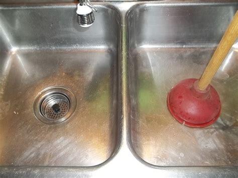 unclog  double kitchen sink drain dengarden