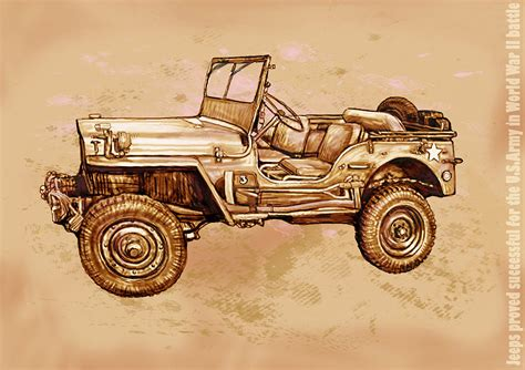 ww2 jeep drawing us army jeep in world war 2 stylised modern drawing art