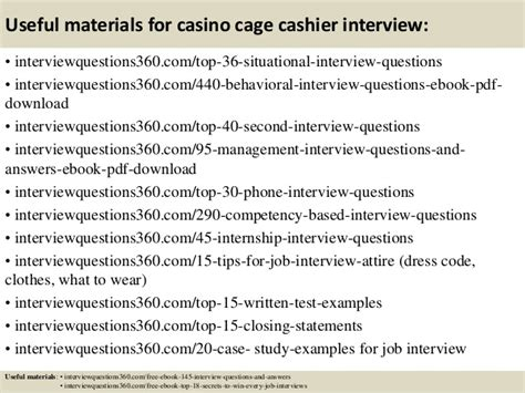 Cashier Answers by Top 10 Casino Cage Cashier Questions And Answers