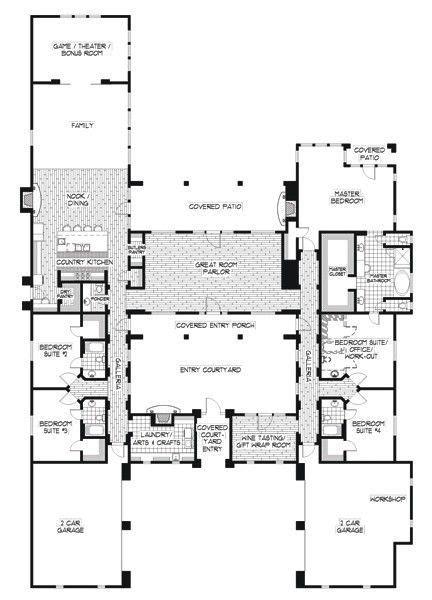 spanish house plans   house designers unique house plans courtyard house plans house