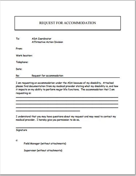 sample disability application forms template printable