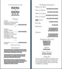 wedding reception program template wedding reception program templates