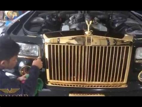 plated rolls royce lexus rx350 gold plated and rolls royce phantom drangon in