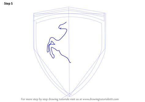 ferrari horse outline learn how to draw ferrari logo brand logos step by step