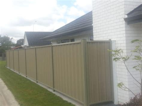 Colour Steel Fencing - Gallery - M&M Fencing (NZ) Ltd