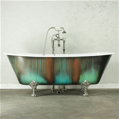 copper claw foot tub the lanercostbt68 68 quot cast iron bateau clawfoot