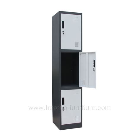 lemari pakaian stainless steel 3 tier lockable lockers luoyang hefeng furniture
