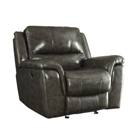 recliner with usb port coaster wingfield leather power recliner with usb port in