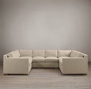 collins upholstered u sofa sectional from restoration hardware With u shaped sectional sofa restoration hardware