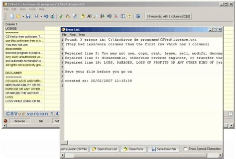 Download Csved (portable) V2.5.2a (freeware)
