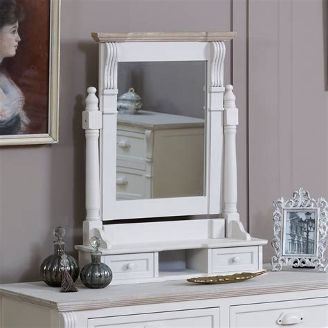 desk with drawers and mirror cream wooden dressing table mirror drawers shabby french