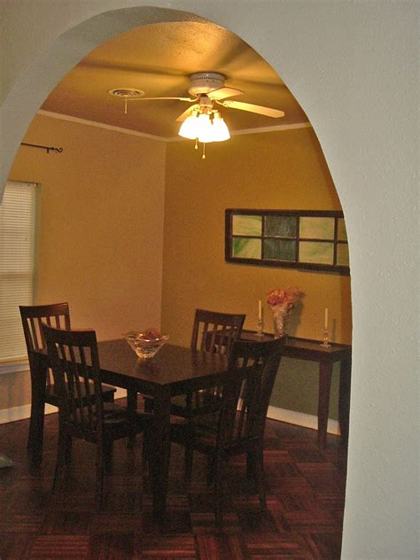 dining table ceiling fan above dining table