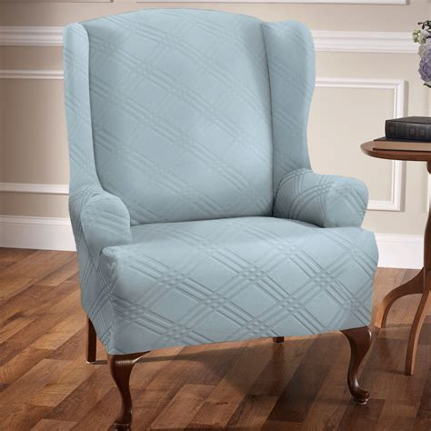 slipcovers for wingback chairs stretch wing chair slipcovers