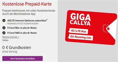 Vodafone Karte Bestellen Kostenlos