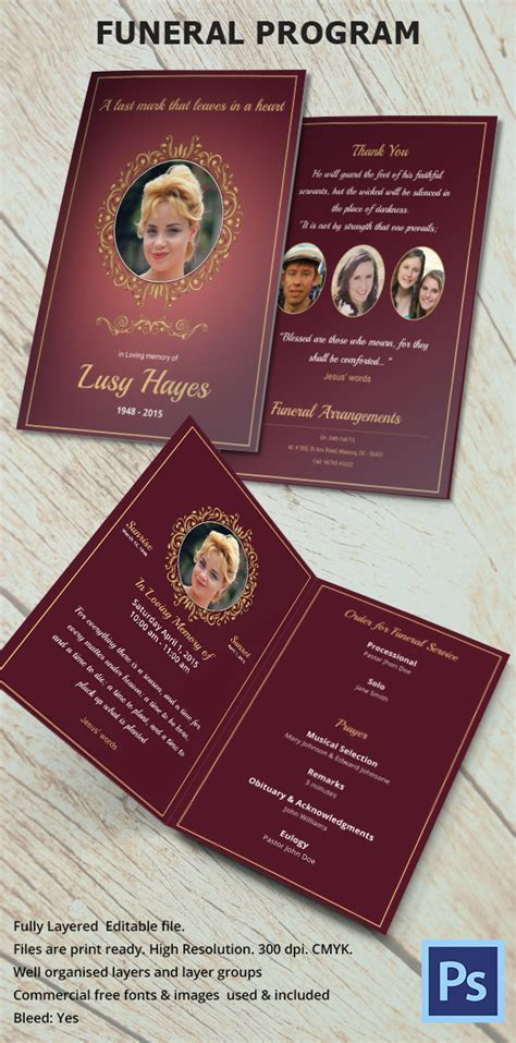 funeral program template    documents