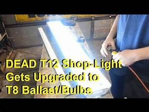 Amazon Led Light Bulbs Convert T12 Florescent Shop Lights To T8 Ballast And Bulbs