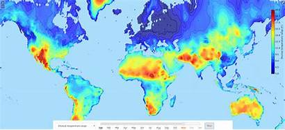 Diurnal Temperature Climate Range Maps