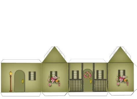 crafts home paper crafts home models green and brick house w landscaping ammey s art attic
