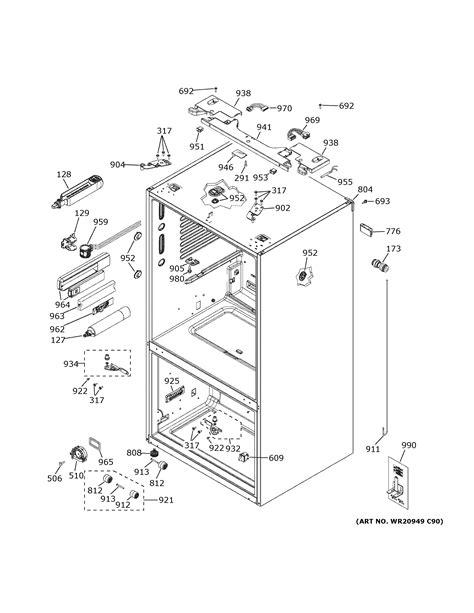 ge cyetpmed bottom mount refrigerator parts sears partsdirect
