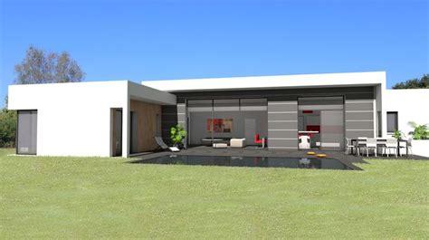 atelier d architecture sc 233 nario maison contemporaine de plain pied avec mix de mat 233 riaux bois