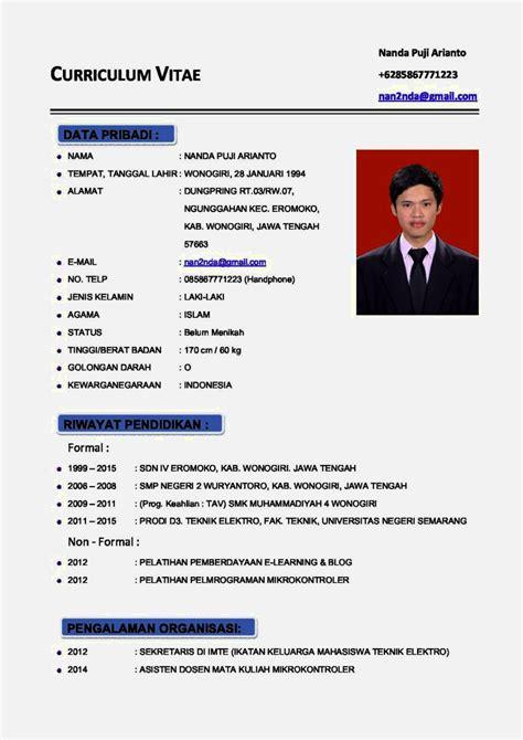 Lop Surat Lamaran Kerja Yang Benar by Contoh Wacana Terbaru Contoh Cv Terbaru 2017 Resume