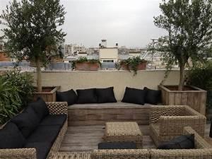 Amenagement Terrasse De Toit : am nager un toit terrasse avec une terrasse bois paris ~ Premium-room.com Idées de Décoration