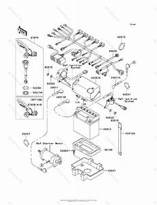 Kawasaki Jet Ski 2000 Oem Parts Diagram For Electrical Equipment