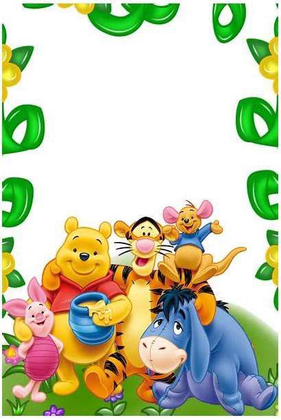 Pooh Winnie Transparent Friends Frame Frames Clipart