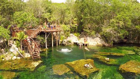 Jardin Del Eden Cenote Garden Of Eden Youtube