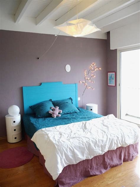 deco chambre gris et mauve modèle ambiance chambre gris et violet