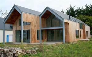 architecte vannes morbihan bretagne maison individuelle With idee maison plain pied 7 maison en bois construite en bretagne au design interieur
