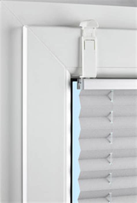 anbringen plissees kein bohren kein kleben klemmfix f 252 r die plissee montage sonnenschutz