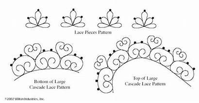 Cake Chocolate Patterns Templates Piping Lace Pattern